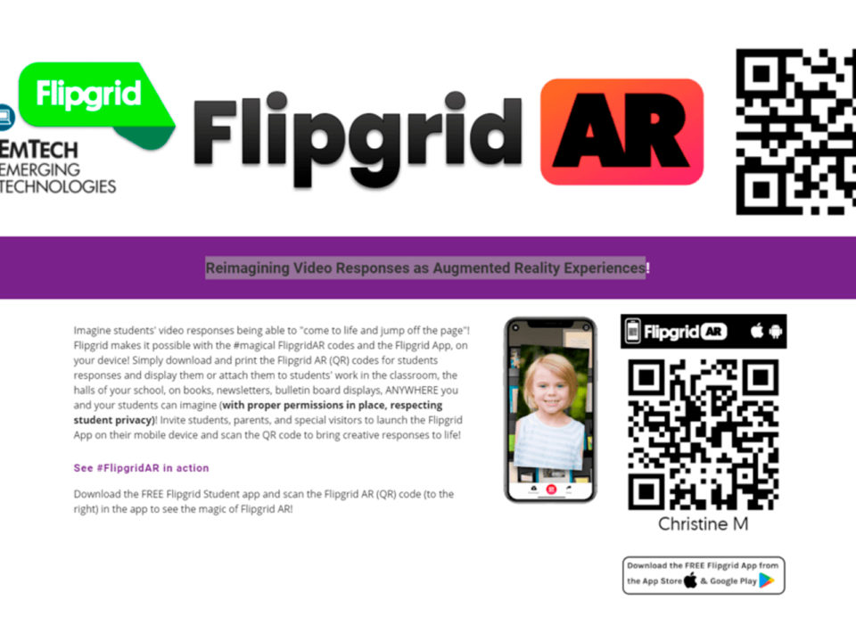 EmTech Flipgrid Resource Center – Flipgrid AR